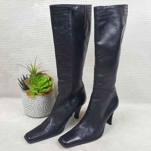 a9c1037455b Charles David Shoes - Charles David Black High Calf Boots Sz 7 EU 37.5